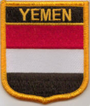 Yemen Embroidered Flag Patch, style 07.